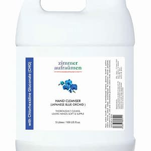 Zimmer Aufraumen Hand Wash with CHG Disinfectant Liquid Refill Pack (5 Litre) (Japanese Blue Orchid)