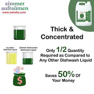 Zimmer Aufraumen Manual Dishwashing Liquid Detergent 5 liters