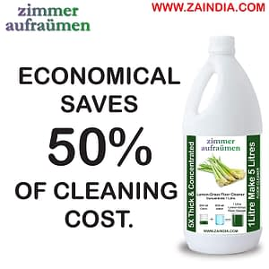 Zimmer Aufraumen Floor Cleaner Concentrate cum Disinfectant with Thai Lemongrass 1 liter