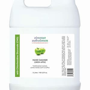 Zimmer Aufraumen Hand Wash with CHG Disinfectant Liquid Refill Pack (5 Litre) (Green Apple)